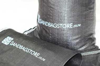 Black Filled SandBags