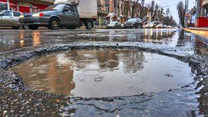 Cold asphalt pothole