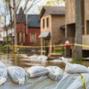 Flood sandbags